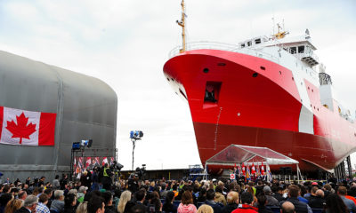 Seaspan Shipyards launches second Offshore Fisheries Science Vessel